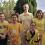 Août 2018 : vacances à St Aygulf et à Brie, weekend dans les Pierres Dorées, dans les Monts d'Or, visite d'amis, soirée jaune..